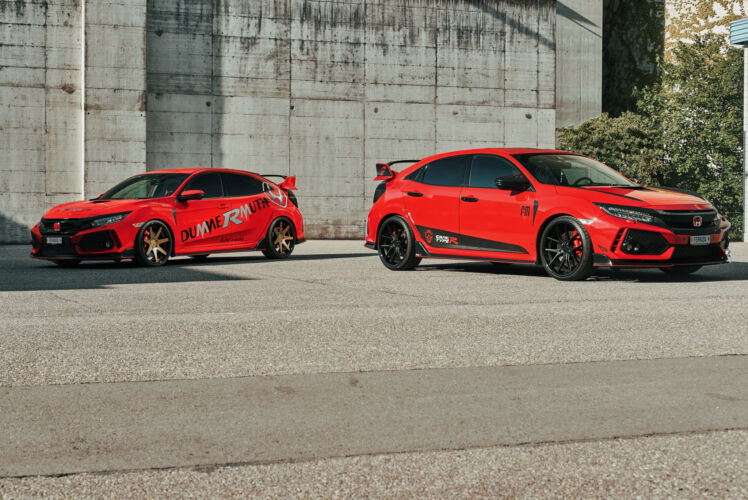 2019 Dual Honda Civic Type R – FR1 Matte Bronze and FR2 Matte Black