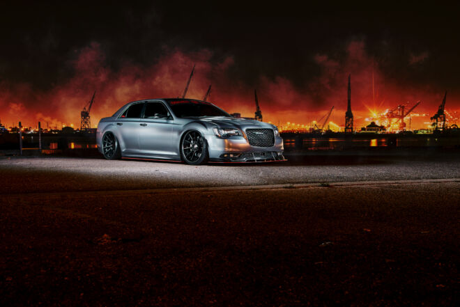 Chrysler 300 Burnout at California Port with Ferrada Wheels, PORT OF MUSCLE | CHRYSLER 300, Ferrada Wheels