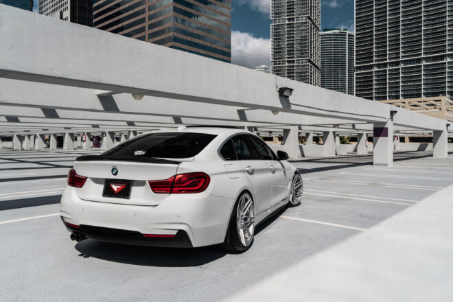 Miami Skyline is second to none. And we showcase this BMW 430i with out FR6 in Machine Silver. To view the video CLICK NOW, MIAMI SKYLINE | BMW 430i BAGGED, Ferrada Wheels