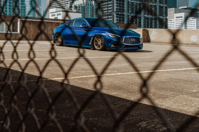 Ferrada Wheels FR6 on Bagged Infiniti Q60 in Houston, CHRIS' Q | INFINITI Q60, Ferrada Wheels, Ferrada Wheels