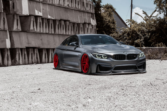 Ferrada Brushed Rouge New finish on a BMW M4, MORE FUN IN ROUGE SHOES | BMW M4, Ferrada Wheels, Ferrada Wheels