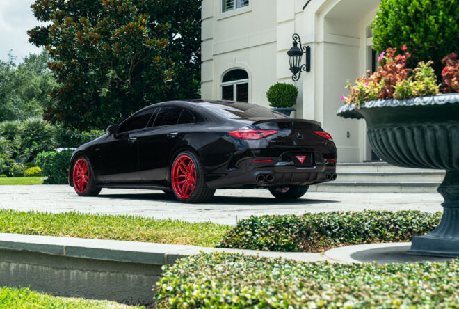 Mercedes CLS53 AMG Forge-8 FR5 Brushed Rouge Red Wheels, RED BOTTOMS | MERCEDES CLS53 AMG, Ferrada Wheels, Ferrada Wheels