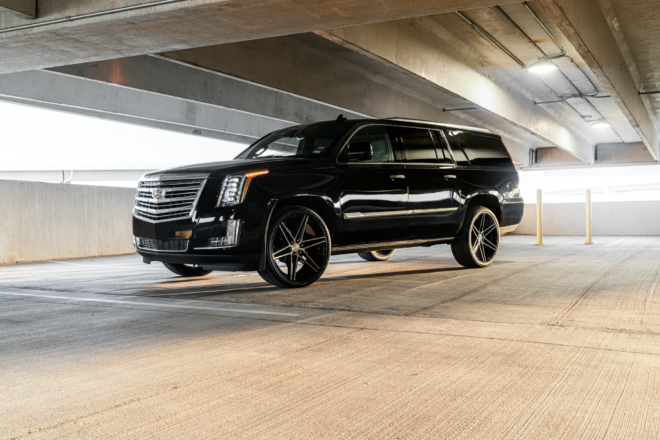 Ferrada Wheels FT4 on Cadillac Escalade in our a classic striking finish Machine Black, THE CLASSIC | CADILLAC ESCALADE, Ferrada Wheels